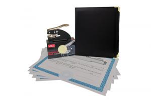 Executive: black faux leather binder