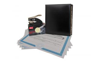 Premium: black padded binder